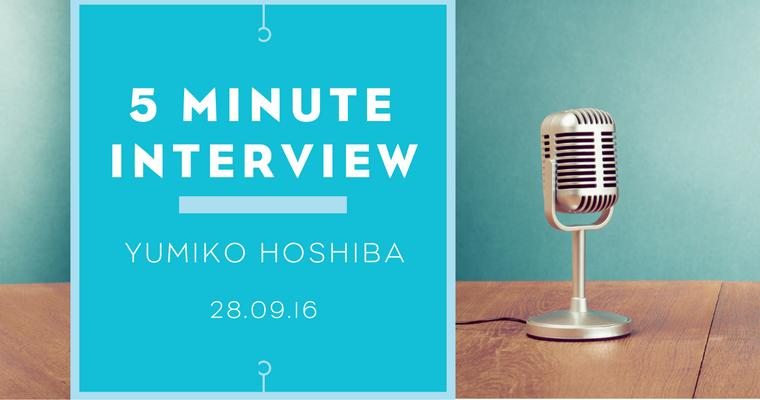5 minutes with Yumiko Hoshiba