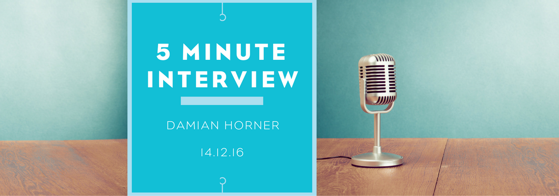 5 minutes with Damian Horner