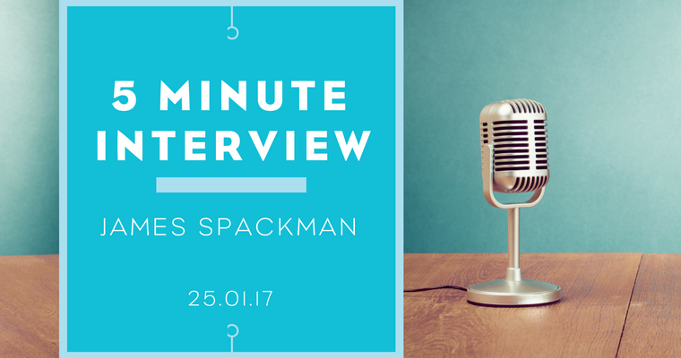 5 minutes with James Spackman
