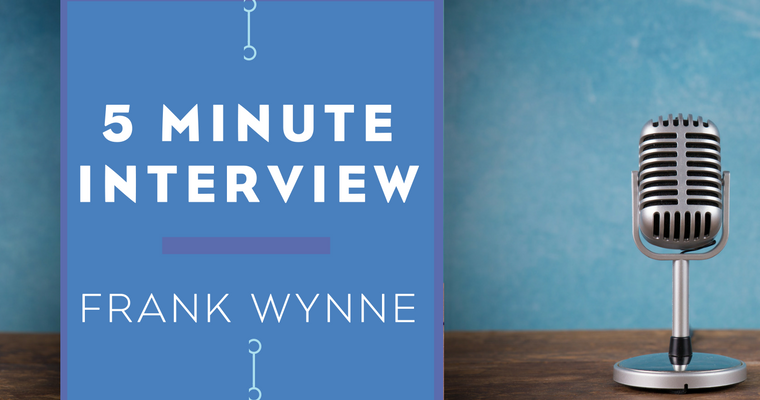 5 Minute Interview with Frank Wynne