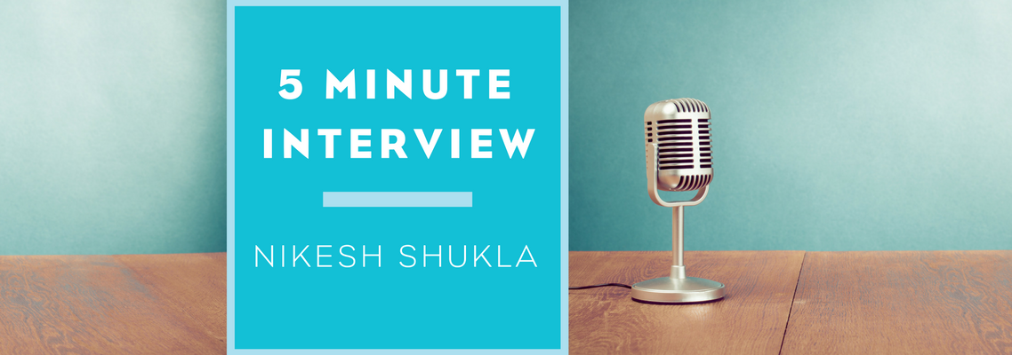 5 Minutes Interview with Nikesh Shukla