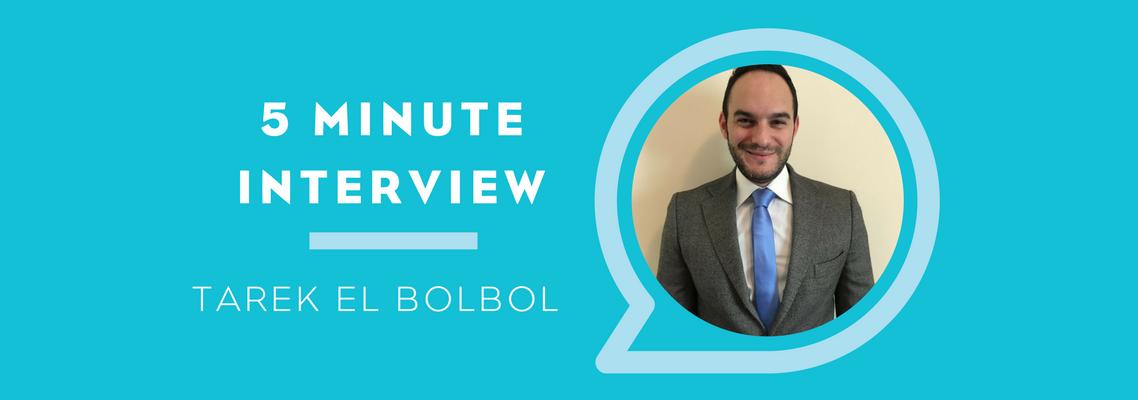 5 Minutes with Tarek El Bolbol